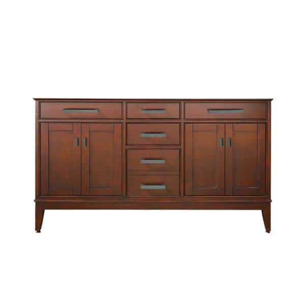 Avanity Madison 60 In W X 21 In D X 34 In H Vanity Cabinet Only In Tobacco Madison V60 To The Home Depot
