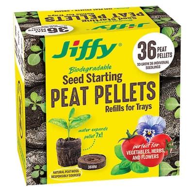 36 mm Peat Pellet Seed Starting Kit Refill (36-Pack)