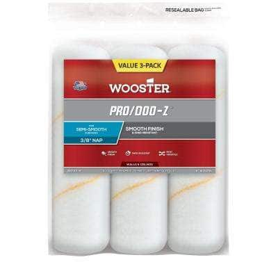 9 in. x 3/8 in. Pro/Doo-Z High-Density Woven Roller Cover (3-Pack)