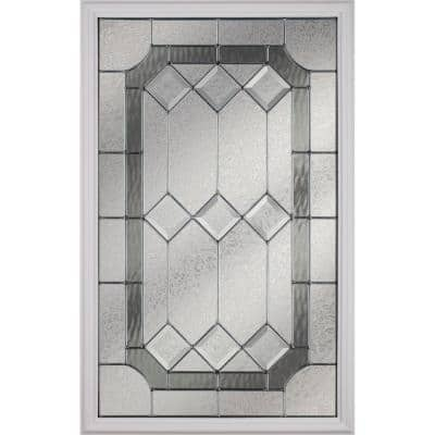 Majestic with Nickel Caming 22 in. x 36 in. x 1 in. with White Frame Replacement Glass