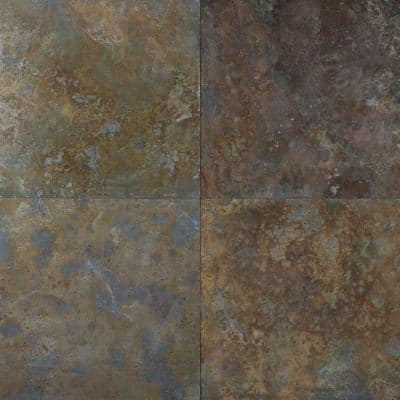 San Rio Rustic 12 in. x 12 in. Gauged Slate Floor and Wall Tile (10 sq. ft. / case)