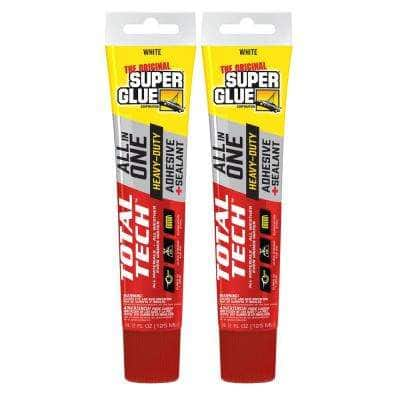 Total Tech (2) 4.25 fl. oz. White All-In-One Adhesive and Sealant (2-Pack)