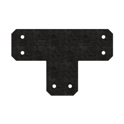 Outdoor Accents Avant Collection ZMAX, Black Powder-Coated T Strap for 6x6 Lumber