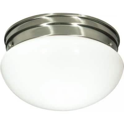 Tony 2-Light Brushed Nickel Flush Mount