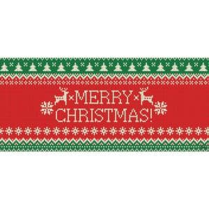 7 ft. x 16 ft. Merry Christmas Ugly Christmas Sweater Christmas Garage Door Decor Mural for Double Car Garage