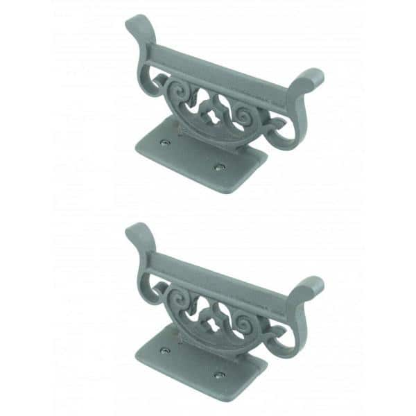 Boot Ser Black Wrought Iron, Wrought Iron Patio Furniture End Caps Home Depot