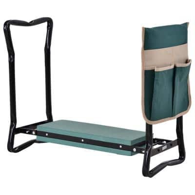 22.75 in. Garden Kneeler and Seat with Large Side Tool Pouch and Easy Folding Design