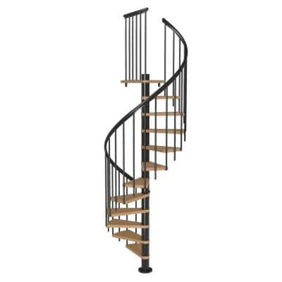 Calgary Black 47 in. Dia Extra Baluster Stair Kit 110 in. High