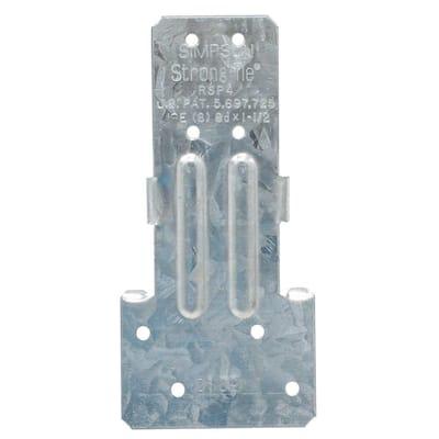 RSP 4-1/2 in. Galvanized Reversible Stud-Plate Tie