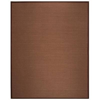 Natural Fiber Brown 9 ft. x 12 ft. Indoor Area Rug