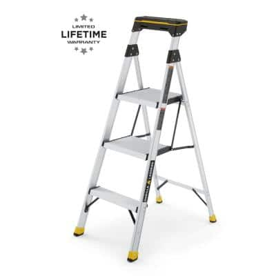 4.5 ft. Aluminum Dual Platform Ladder with Tray (9 ft. Reach), 250 lb. Load Capacity Type I Duty Rating