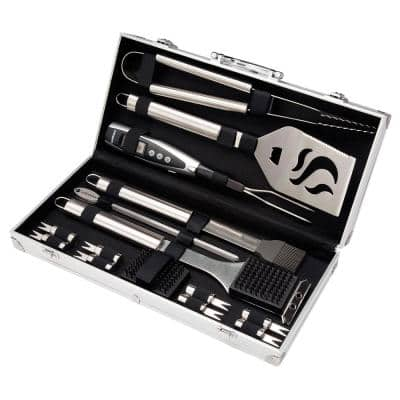 Deluxe Grilling Tool Set with Aluminum Storage Case(20-Piece)