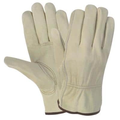 Durable Cowhide Leather Work Gloves