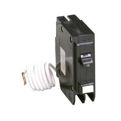 BR 15 Amp Single Pole Self Test Ground Fault Circuit Breaker