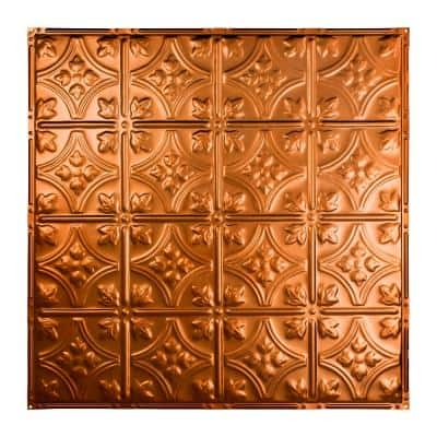 Hamilton 2 ft. x 2 ft. Nail Up Metal Ceiling Tile in Copper (Case of 5)
