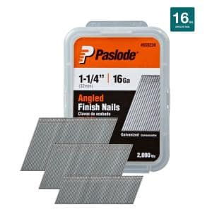 1-1/4 in. x 16-Gauge Galvanized Angled Nails (2000 per Box)