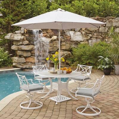 cast aluminum gray patio dining