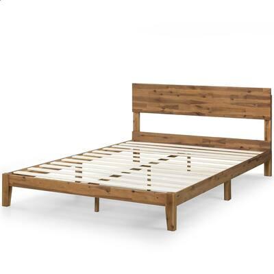 Julia 10 in. Twin Wood Platform Bed with Headboard