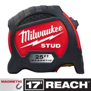 25 ft. x 1.3 in. Gen II STUD Magnetic Tape Measure with 17 ft. Reach