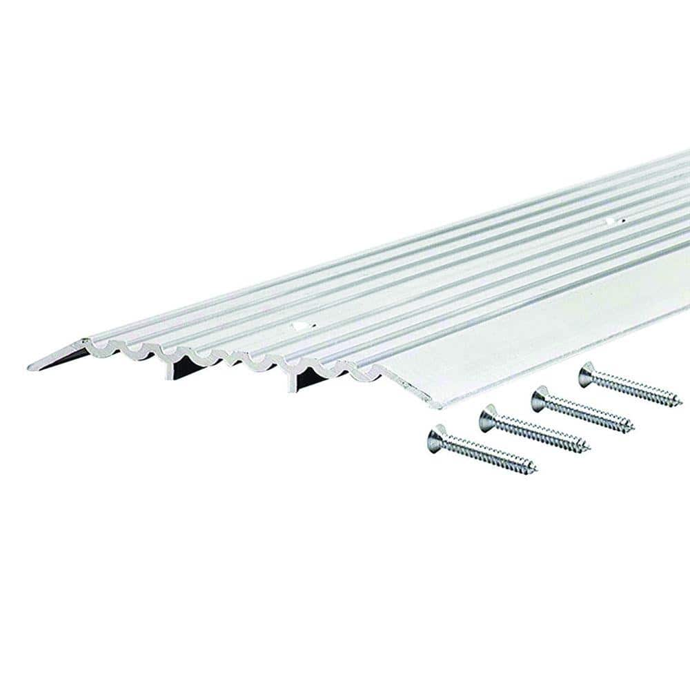 M D Building Products Fluted Top Fixed 6 In X 65 In Aluminum Heavy Duty Commercial Threshold 99034065000 The Home Depot