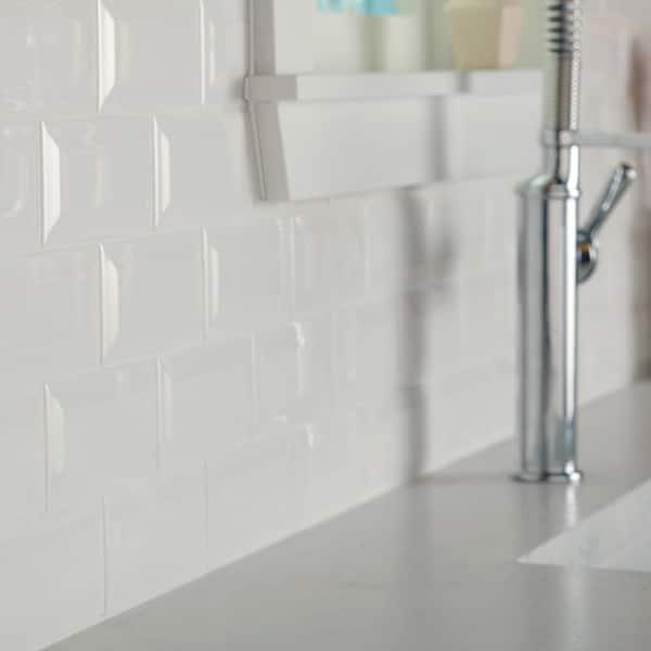 White gloss linear tile 300x100x8mm 5m2 bundle