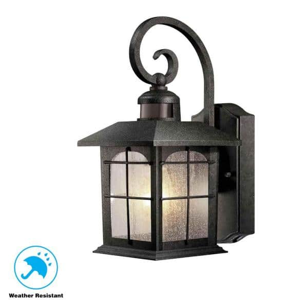 Home Decorators Collection Brimfield, Imre 2 Light Outdoor Sconce With Motion Sensor