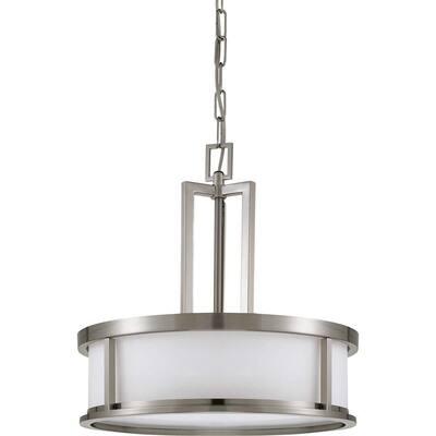 Andria Glamor 4-Light Brushed Nickel Pendant