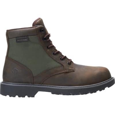 "Men's Field Boot Waterproof 6"" Work Boot - Soft Toe - Brown Size 8(M)"