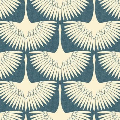 Genevieve Gorder Feather Flock Blue Peel and Stick Wallpaper (Covers 56 sq. ft.)