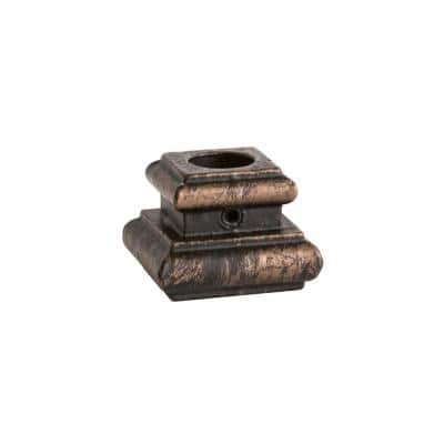 Round Hole 1.25 in. Cast Iron Level Baluster Shoe in Oil Rubbed Bronze
