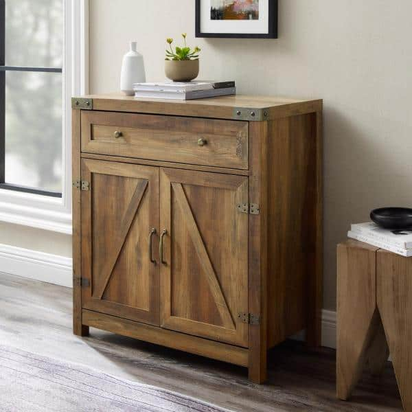 Welwick Designs 30 In Reclaimed, Accent Cabinet With Drawers