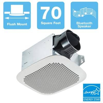 Integrity Series 70 CFM Ceiling Bathroom Exhaust Fan with Bluetooth Speaker, ENERGY STAR