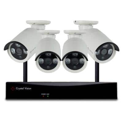 8-Channel Wireless 1080p Full HD 2MP 2TB Hard Drive Surveillance System with 4 Standard Cameras