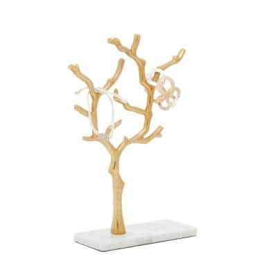Gold Marble Modern Jewelry Stand