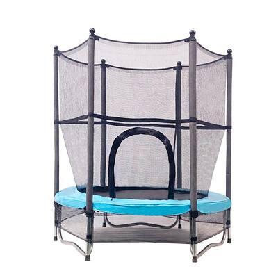 55 in. Mini Trampoline w/ Net W-Shaped Steel Frame for Kids Toddlers Baby Trampoline for Kids