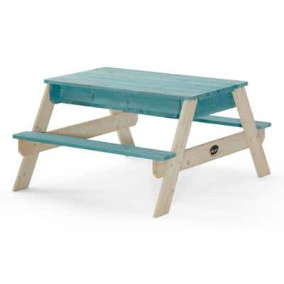 Surfside 41 in. x 35 in. Wooden Sandbox and Water Table