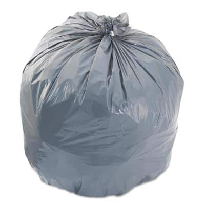 40 in. x 46 in. 45 Gal. 0.95 mil Gray Low-Density Trash Can Liners (25-Bags/Roll, 4-Rolls/Carton)
