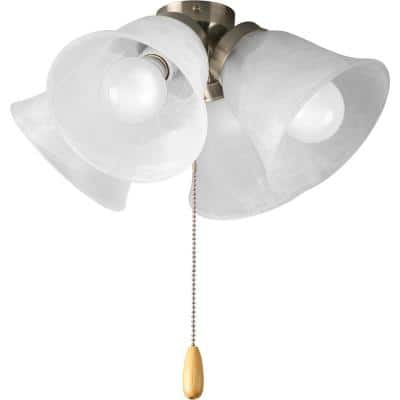 Fan Light Kits Collection 4-Light Brushed Nickel Ceiling Fan Light Kit