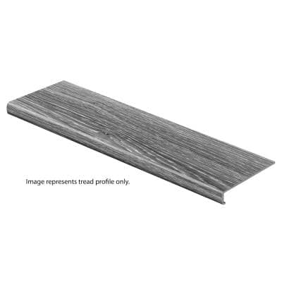 Red Cherry/Warm Cherry 47 in. L x 12-1/8 in. D x 2-3/16 in. H Vinyl Overlay to Cover Stairs 1-1/8 in. to 1-3/4 in. T