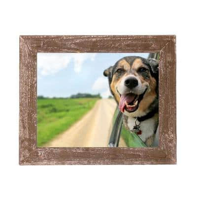 Rustic Farmhouse 24 in. x 36 in. Weathered Gray Reclaimed Picture Frame (1.5 in. Molding)