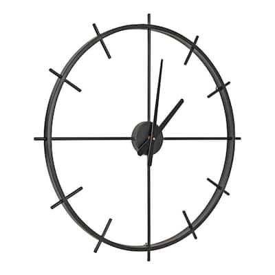 Isaac Black Modern Wall Clock