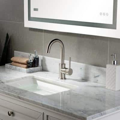 Frankfurt Single-Handle Bar Faucet with Swivel Spout in Brushed Nickel