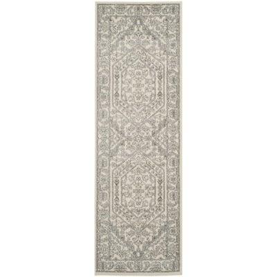 Adirondack Ivory/Silver 3 ft. x 8 ft. Runner Rug