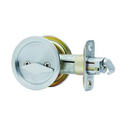 Round Stainless Steel Privacy Pocket Door Lock