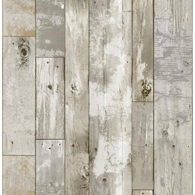 Brown Vinyl Peel & Stick Repositionable Wallpaper Roll (Covers 28.2 Sq. Ft.)