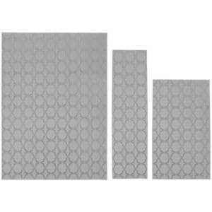 Sparta Silver 5 ft. x 7 ft. 3-Piece Rug Set