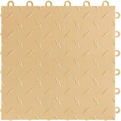 12 in. W x 12 in. L Mocha Java Diamondtrax Home Modular Polypropylene Flooring (10-Tile/Pack) (10 sq. ft.)