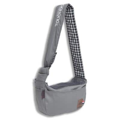 Grey Canine-Spine Over-The-Shoulder Hands-Free Pet Carrier