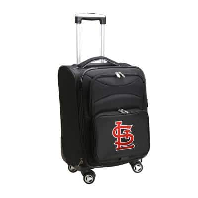 MLB St Louis Cardinals 21 in. Black Carry-On Spinner Softside Suitcase