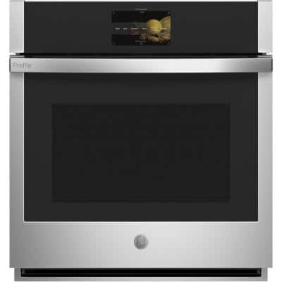 Profile 27 in. Smart Single Electric Wall Oven with Convection Self-Cleaning in Stainless Steel
